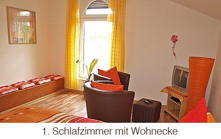 Schlafzimmer mit Wohnecke