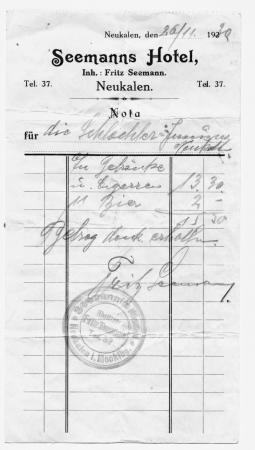Rechnung von 1930