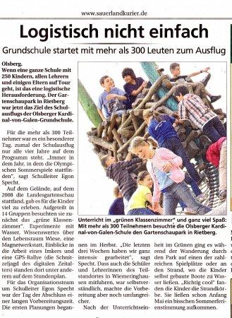 Ausflug Sauerlandkurier 13.5.