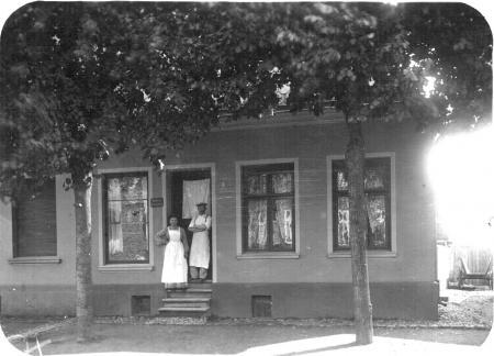 Ansicht der Bäckerei Specht aus der Zeit vor dem I. Weltkrieg