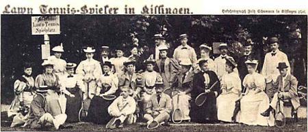 Lawn Tennis-Spieler in Kissingen 1907 (aus dem Stadtarchiv)