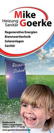 Heizung und Sanitär Meisterbetrieb Goerke in Hannover Langenhagen