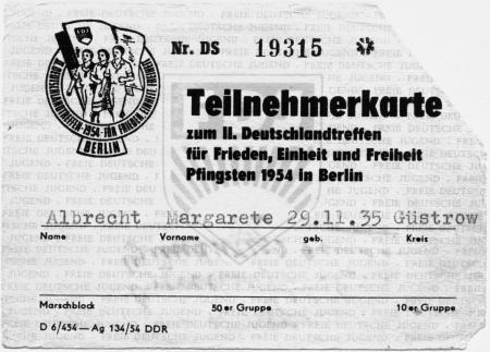 Teilnehmerkarte für Margarete Albrecht (1)
