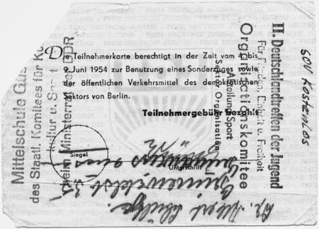 Teilnehmerkarte für Margarete Albrecht (2)
