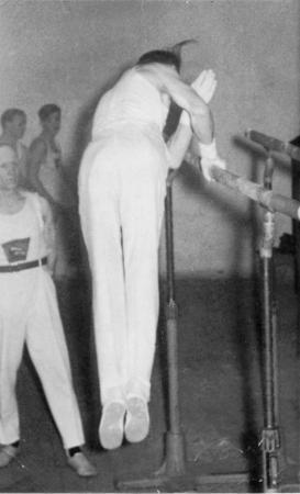Kurt Albrecht, Abgang vom Barren, 1954