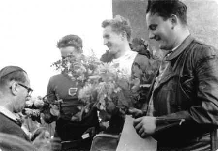 Von links: Timm, Horst Schäfer, Ewald Schwarz, Otto Vandrey