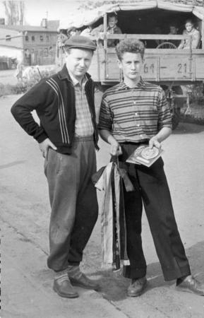 Jochen Peters und Uli Voth, Mai 1959