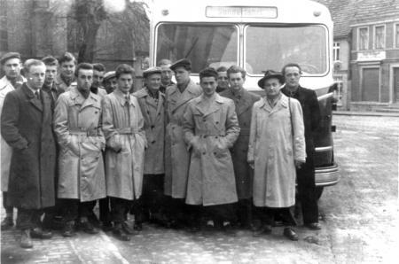 Abfahrt nach Lübeck 1957