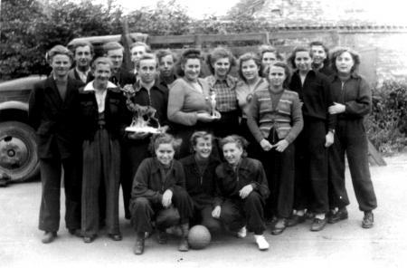 Erstes Pokalspiel in Levin-Zarnekow 1952