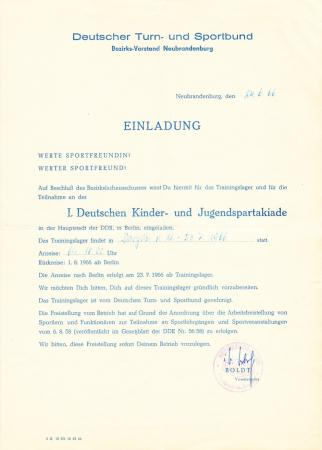 Einladung 1966 Bodo Kunst