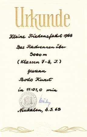 Urkunde Bodo Kunst (1)