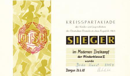 Urkunde Bodo Kunst (2)