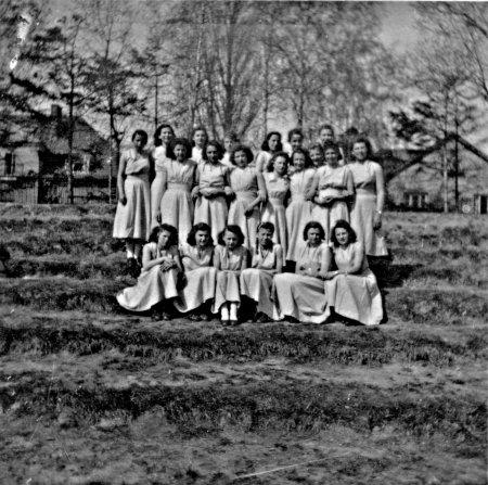 Sportgruppe Mecklenburg beim Deutschlandtreffen 1950
