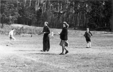 Die besten Leichtathleten des Vereins Anfang der 50ger Jahre, Kurt Schmidt und Wilma Schlundt (Schmidt)
