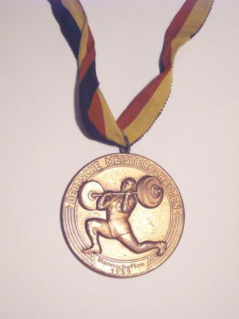 Medaille für Hugo Meilke 1959