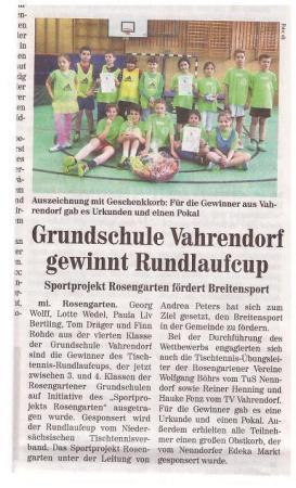 Tischennis-Rundlaufcup