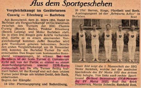 Sportpresse 1953