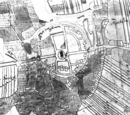 Ausschnitt aus der Karte von 1727