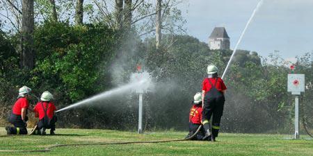 Jährlich treffen sich die Landsberger Feuerwehren zum Stadtpokallauf