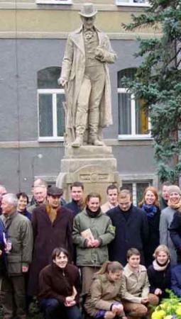 Thaer-Denkmal Kaaden (Tschechien), nach der Restauration