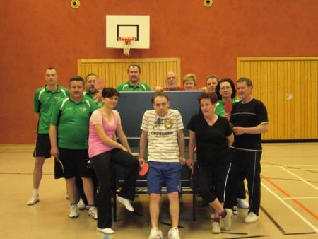 Tischtennis Gruppenfoto