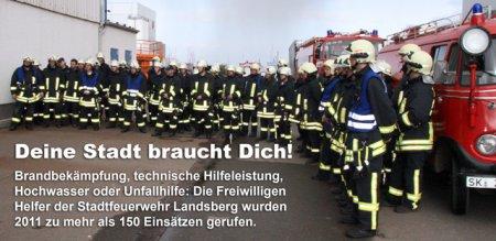 Die Stadtfeuerwehr Landsberg sucht ständig neue Mitglieder