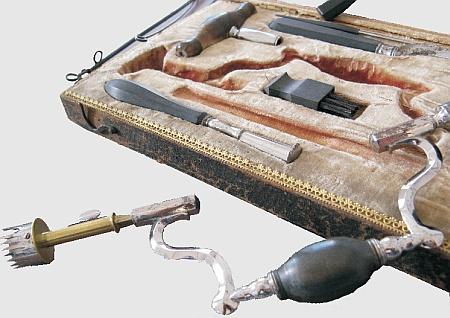 Trepanationsbesteck, 18.Jahrhundert