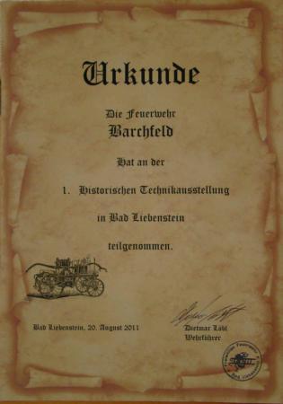 Urkunde BaLi