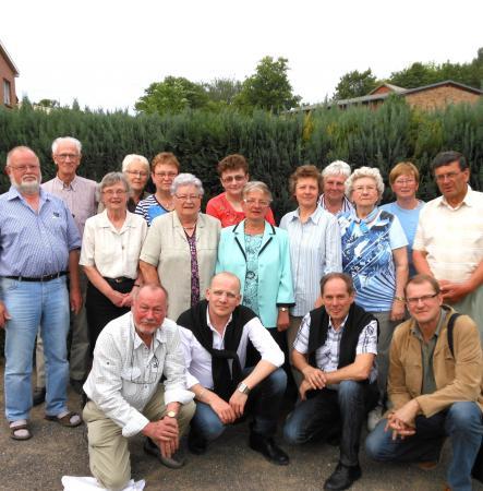 Der Vorstand des Heimatvereins mit den Gästen aus Finnland und Schweden am 26. Mai 2012