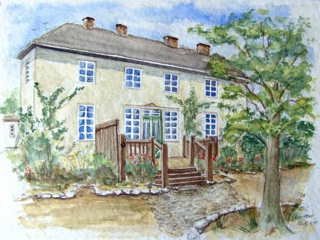 Das Haus im Waldwinkel (nach einem Foto gemalt)