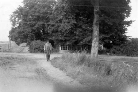 Hermann Schwarz auf dem Heimweg