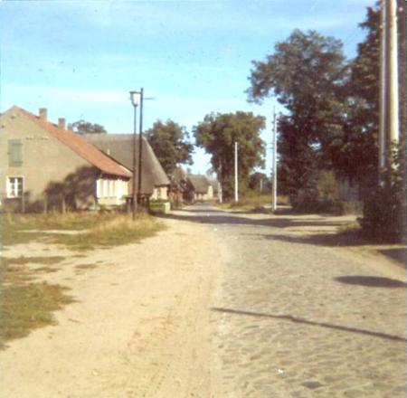 Dorfstraße Warsow 1973