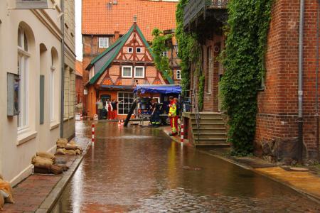 2013 Elbehochwasser Lauenburg Elbstraße