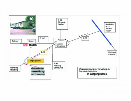 Wegbeschreibung Anfahrt zur Gemeindeverwaltung
