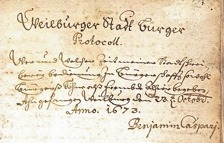 """""""Weilburger Stadtbürger-Protocoll"""""""