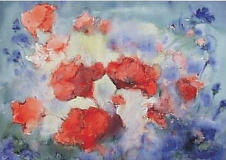 Wiesenmohn mit Kornblumen, 1993