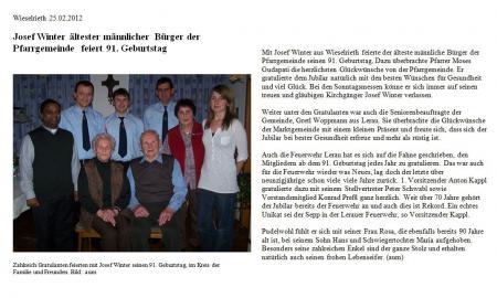 Winter 91. Geburtstag 2013