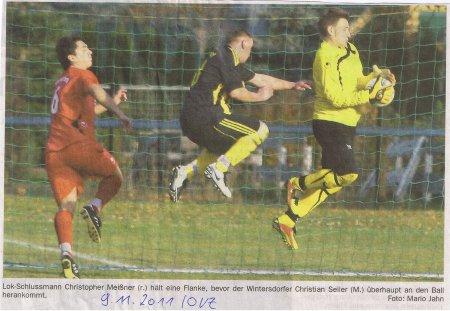 Wintersdorf gegen Lok Liga Bild