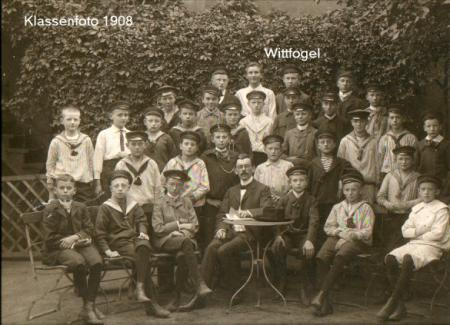 Wittfogel in seiner Klasse 1908