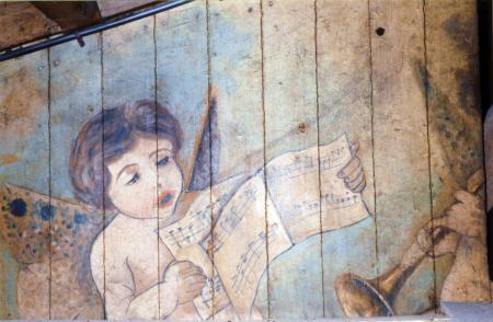 Malerei oberhalb der Zwischendecke (1)
