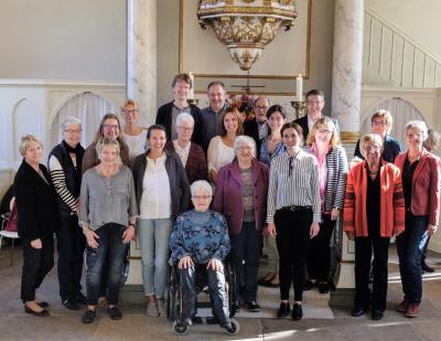 Kirchenchor Steinwedel - in kleiner Besetzung nach der Jubiläumskonfirmation 2018 mit der damaligen Chorleiterin Katrin Hauschildt