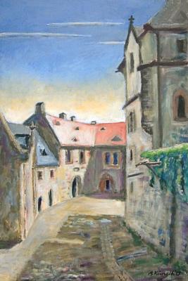 Maler Andreas Kunath - Burg Kriebstein Innenhof
