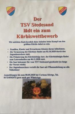 Kürbiskönig/Kürbiskönigin TSV 2020