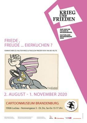 """Plakat zur Ausstellung - Motiv von Reiner Schwalme """"Ein Sprengkopf denkt nichts!"""" -1983"""