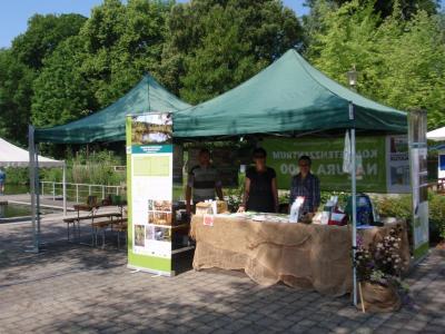Info-Stand zur Kleinen Gartenschau in Oschatz 2016