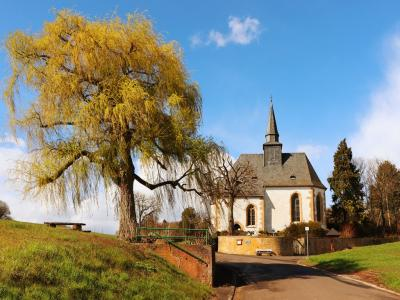 Frühling vor der Eckweiler Kirche
