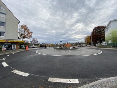 Fotoalbum Bilder vom Kreisverkehrbau Dallgower Straße/Schwartzkopffstraße