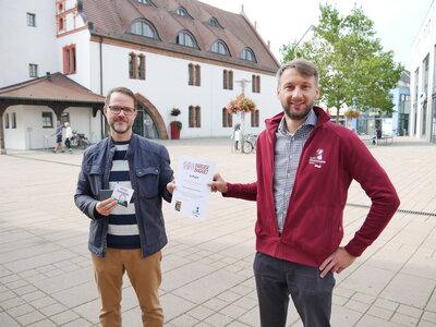 Fotoalbum Urkundenübergabe an die Gewinner des Bürgerbudgets 2021