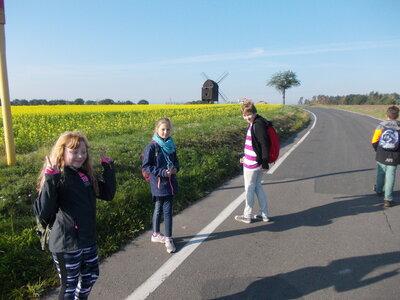 Fotoalbum Wanderung zur Bockwindmühle Zeuckritz - Klasse 4