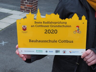 Fotoalbum Beste Grundschulklasse in der praktischen Fahrradprüfung der Stadt Cottbus